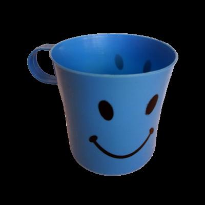 Kék smiley műanyag bögre
