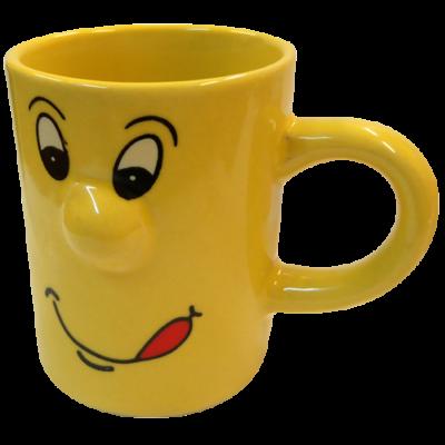 90 ml-es sárga smiley bögre