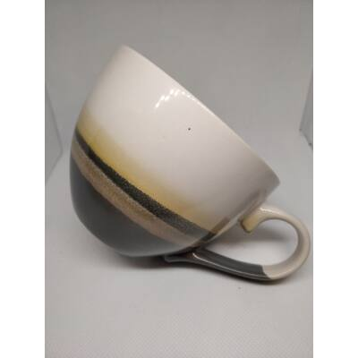Barna színátmenetes nagyméretű cappuccino bögre