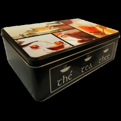Fém teafilter tartó doboz