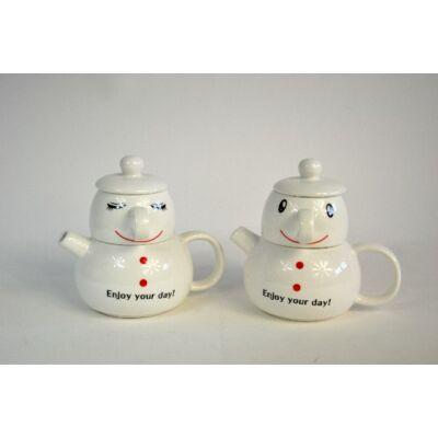 Hóember formájú teakészítő