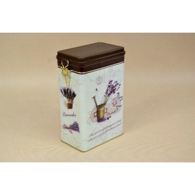 Levendula mintás kávétartó doboz