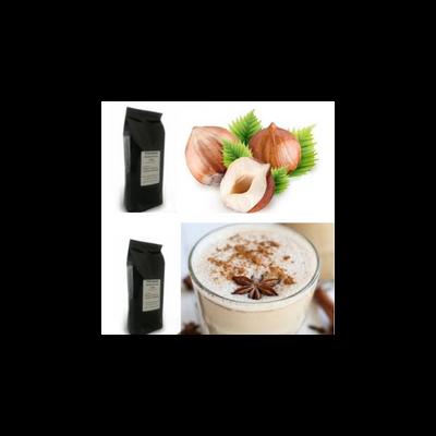 Pörkölt mogyoró és tchai latte ízű szemes kávé csomag