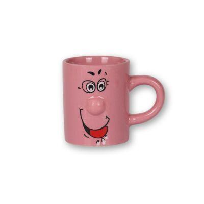 90 ml-es rózsaszín smiley bögre