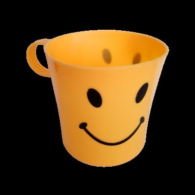 Sárga smiley műanyag bögre