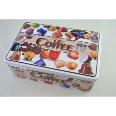 Kávékapszula mintás szögletes kávé és kapszulatartó doboz