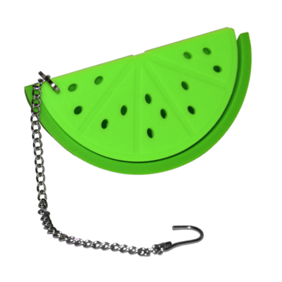 Zöld , dinnye alakú teatojás
