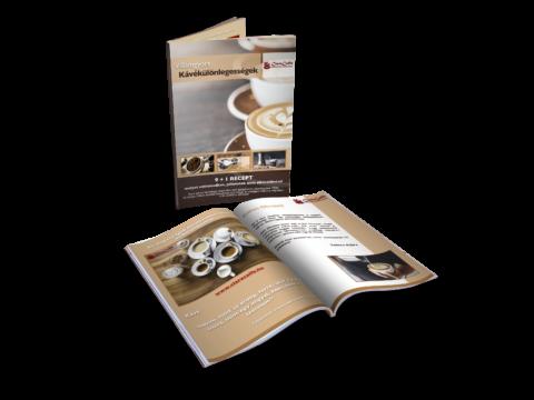 Ajándék kávékülönlegesség receptfüzet