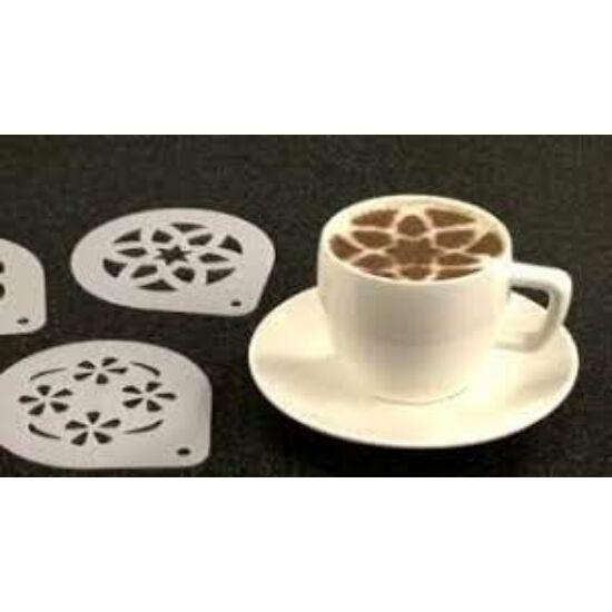 6 részes cappuccino díszítő sablon