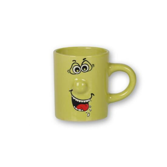 90 ml-es zöld smiley bögre