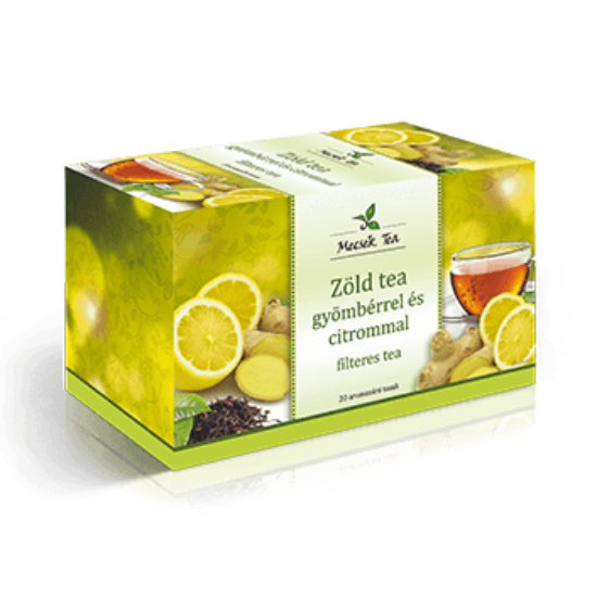 Zöld tea gyömbérrel és citrommal